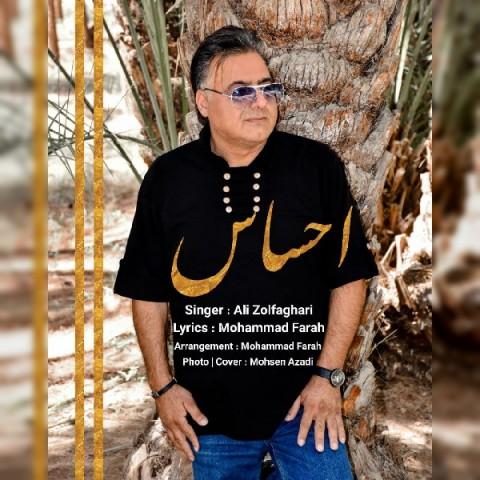 دانلود آهنگ جدید علی ذوالفقاری احساس